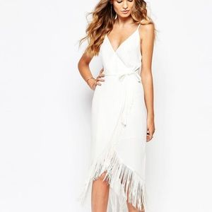 GOLDIE White Fringe Dress